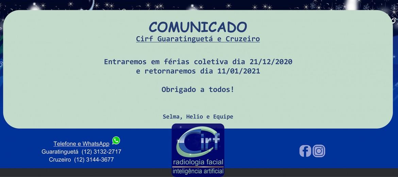 Comunicado Cirf Guaratinguetá e Cruzeiro